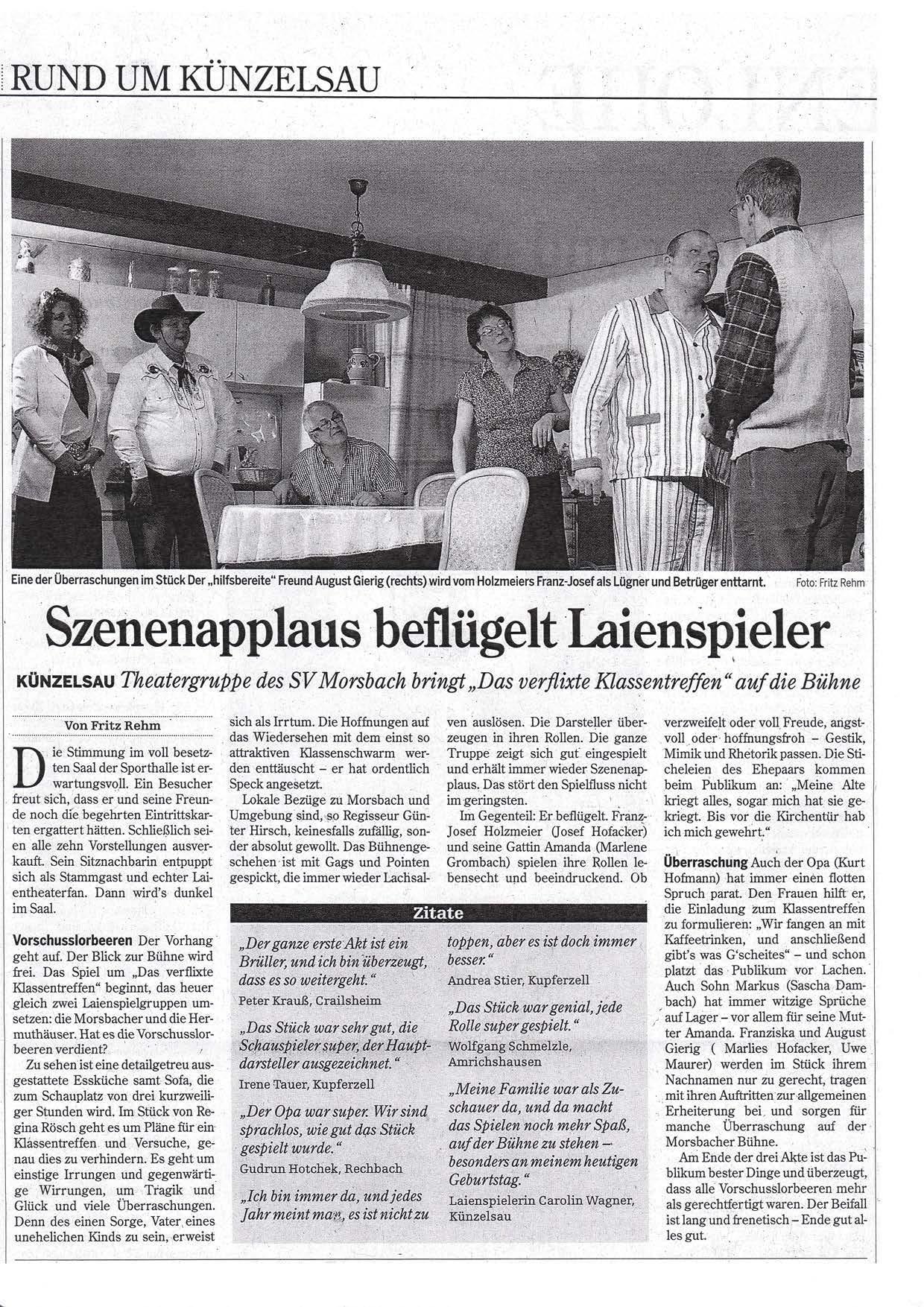 theater_201402_Hohenloher Zeitung 06.02.2014